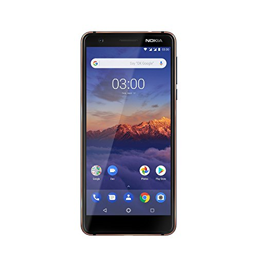 Nokia 3.1 Smartphone (13,2 cm (5,2 Zoll) HD Display, 13MP Weitwinkel Kamera, LTE, Android 8.0, Hochwertiges Aluminiumgehäuse, Dual Sim) blau/kupfer, version 2018