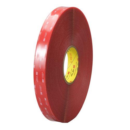 TapeCase 3 m VHB-4905 6,98 cm x (2,75 72yd 4905 trasparente multiuso, Double face, in materiale acrilico, 20 mil, spessore 1,3 mm, 6,9 x 183 m, in rotolo (1 rotolo)