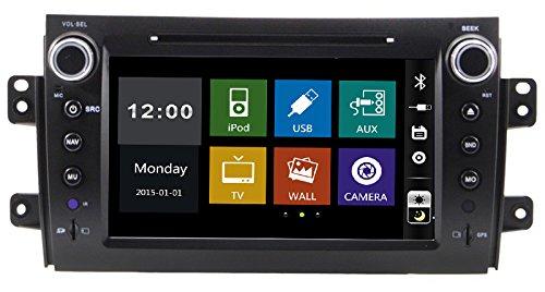 20,3cm-INDASH Auto DVD-Player mit BT/TV, Unterstützung Kamera, Lenkradfernbedienung, USB/SD AUX, Audio Radio Stereo, Car Multimedia Haupteinheit für Suzuki SX42006200720082009201020112012