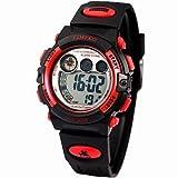 Fenkoo Time100 Kinder Multifunktionale Wasserdichte Digital Dial PU-Band Outdoor Sport elektronische Uhr