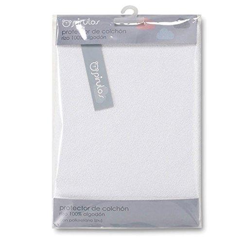 Pirulos 42100001 - Protector no acolchado minicuna, 50 x 80 cm, color blanco
