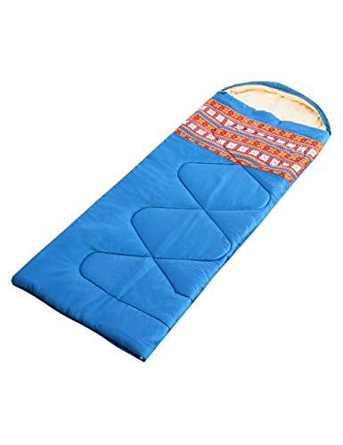 Zhhlaixing Surdimensionné Résistant à l'eau Camping Sac de Couchage - Motif Imprimé Coton Doublé Sacs de Couchage avec Sac de Compression