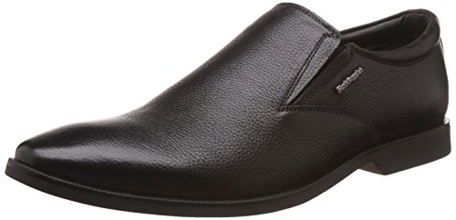 Hush Puppies Men's Aaron Plain Slip On Black Leather Formal Shoes - 9 UK/India (43 EU)(8546873)