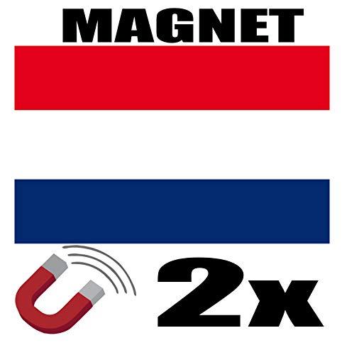 SAFIRMES 2 x Pays Bas Drapeau Magnet 6x3 cm Aimant déco Pays Bas magnétique frigo