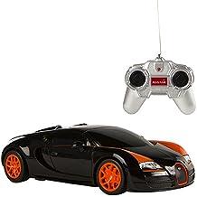 Rastar - Bugatti Gran Sport Vitesse, coche teledirigido, escala 1:24, color negro (ColorBaby 85044)