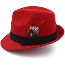 Amazon.es  sombrero fedora - Rojo be0dd0c14f6