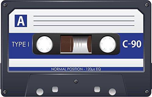 Audio Cassette Type I C 90 Alta Calidad De Coche De Parachoques Etiqueta Engomada 12 x 10 cm