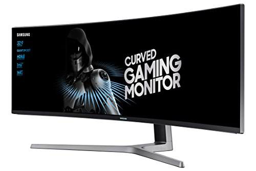 Samsung LC49HG90DMUXEN 124,20 cm (49 Zoll) LED Multitasking Monitor (2x HDMI, Display Port, Mini-Display Port, USB, 3840 x 1080 Pixel) mattschwarz