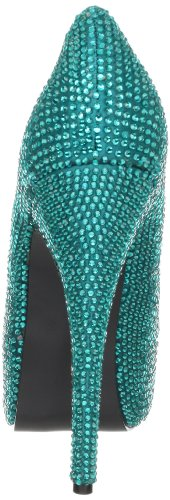Pleaser Teeze-06R, Damen Pumps Turquoise Satin RS