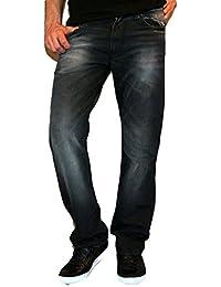Newfacelook Men Designer Pantalon Fashion New Denim Casual ou robe Jeans Noir