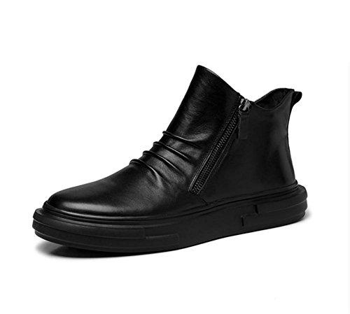 casual chaussures respirantes Angleterre hommes tirette bottes tendance de la mode d'hiver des jeunes hommes