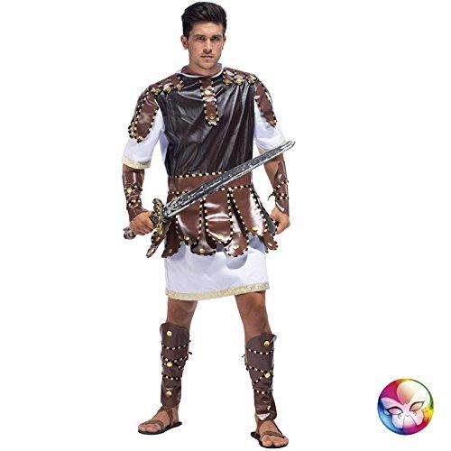Aptafêtes cu050051/50–52–Magnifico costume uomo di gladiatore Taglia 50/52