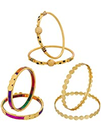 The Luxor Designer Gold Plated Daily Wear Bangle Set Combo For Women