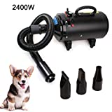 Topwill 2400W Pet Dog Pet Pet Dog Drying, Pet Dryer Low Noise (60dB) Cane...