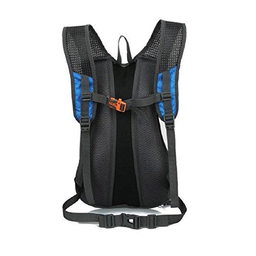 LF&F Backpack Leichte 15L KapazitäT Hochwertiges Nylon Fahrrad Mountainbike Reitrucksack MäNner Und Frauen Outdoor Sporttasche Bergsteigen Tasche Freizeit Rucksack D
