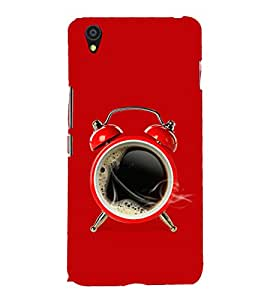 printtech Black coffee Alarm Clock Back Case Cover for One Plus X