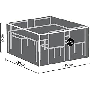 41b2Te YtpL. SS300  - Perel Garden Ocgs Case For Rectangular Furniture Set SCART-M; 185x 150x 95cm