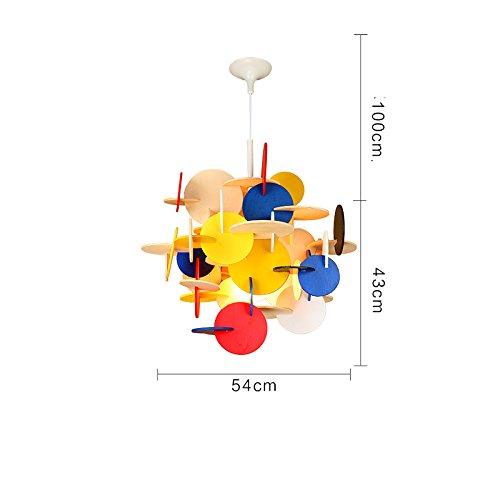 XDD Baustein Kronleuchter, Farbe Cartoon Kinderzimmer Kronleuchter, Junge Zimmer Schlafzimmer Lampe, kreative Persönlichkeit Holz Flugzeug Kronleuchter,Farbe,Einheitsgröße (Japanische Bausteine)