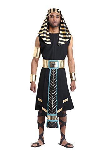 Pharaonen Kostüm Ägyptische - Fun Costumes Das dunkle ägyptische Pharao-Kostüm der Männer - M