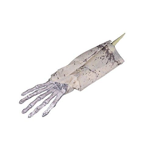 OULII Skelett Teile Halloween Arm Skelett Hand Knochen Party Kostüm (Halloween Kostüme Bffs Für)