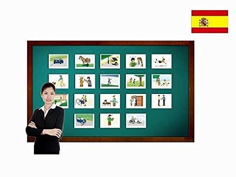 Bildkarten zur Sprachförderung in Spanisch - Verben - Tarjetas de vocabulario - Verbos compuestos 2