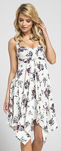 Happy Mama Damen Umstands Asymmetrisch Stillkleid Neckholder Kleid 656p - 3