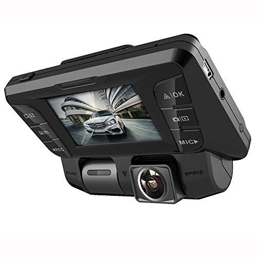 4K Full HD 340° Dash Cam per Auto - 2,7 Inch WIFI Anteriore Posteriore Doppia Telecamera Dashcam per Monitoraggio Atti Vandalici con G-Sensor Monitor di Parcheggio e Rilevatore Movimento,128G sd card