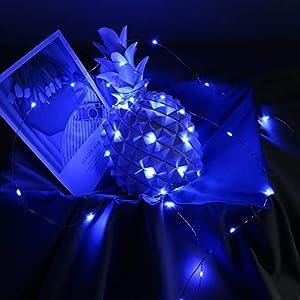 Dapei 5M 50 LED Lichterkette – USB Kupferdraht Lichterketten mit Fernbedienung Wasserdicht 8 Modi Beleuchtung Deko für…