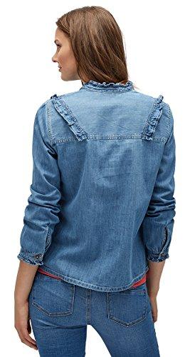 TOM TAILOR DENIM für Frauen Shirt  Blouse Bluse mit Rüschen Abbildung 2