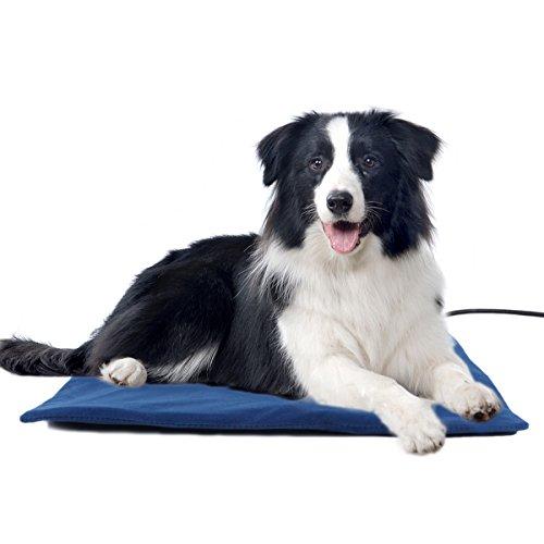Namsan-Wärmer Beheizte Pet Mat - Low Voltage Sicherheit Indoor Hund Katze Haustier-Bett-Elektroheizung Decke mit kostenlosen Abdeckung für Pet 19,8 * 19,8 Zoll, Blau