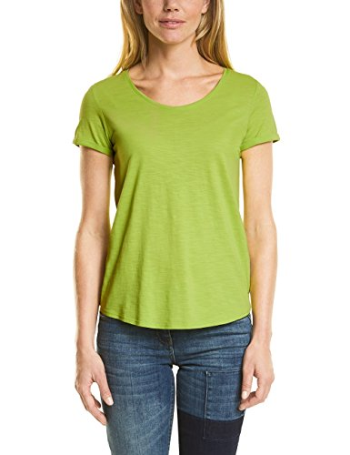 Cecil Damen T-Shirt 311994 Anisa, Grün (Sulphur Green 11336), X-Large (Baumwoll-t-shirt Weiches)
