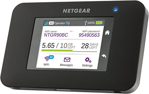 NETGEAR AC790 Aircard Wifi Mobile Broadband Hotspot with Super Fast 4G+ LTE, Portable Car Wifi Unlocked (Built-In Charging for Your Smart Device and SMS Messaging)