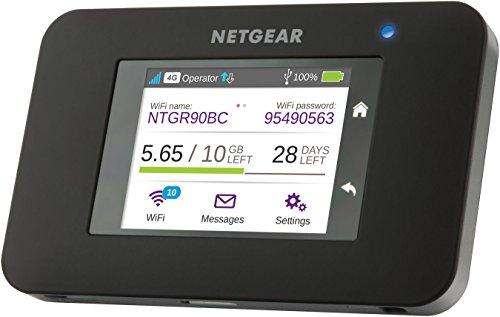 dual sim lte router Netgear AC790-100EUS Aircard Mobiler Hotspot Router (mit bis zu 300 Mbit und Cat 6 LTE / 4G, ohne SIM-Lock) schwarz