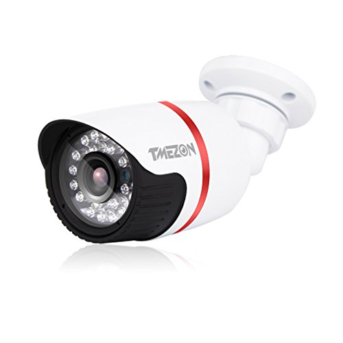 Galleria fotografica TMEZON Alta risoluzione 1/3 AHD 2.0MP 1080P HD Indoor / Outdoor 24IR LEDs 65ft 3.6mm Lente Hi-Definizione telecamera di sicurezza Day Night Vision IR taglio deve essere utilizzato con AHD DVR