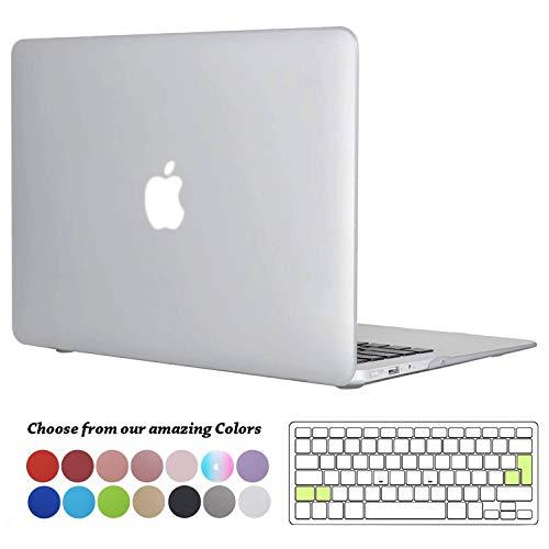 TECOOL MacBook Air 13 Zoll Hülle Case, Slim Case Plastik Hartschale Snap Cover mit Silicon Transparent Tastaturschutz Schutzhülle für Apple MacBook Air 13,3