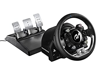 Thrustmaster T-GT Leather Coated Steering Wheel - Under Official PS4 and Gran Turismo License - Compatible with PC