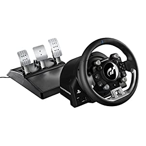 Thrustmaster T-GT (Lenkrad inkl. 3-Pedalset, Force Feedback, 270° – 1080°, Eco-System, Gran Turismo Lizenz, PS4 / PC)