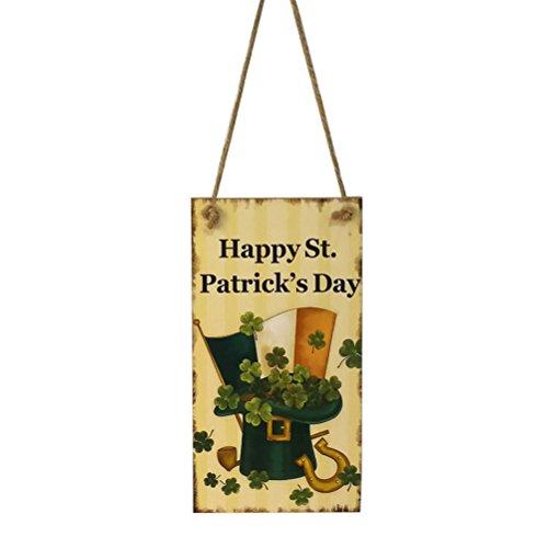aint Patrick Irische Happy St Patrick 's Day Wandtafel aus Holz Deko Vintage ()