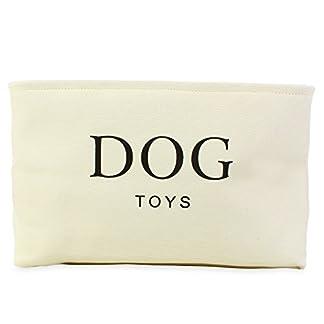 Cesta para Juguetes de Perro de Lona Color Crema – Caja de Alta Calidad para Almacenar los Juguetes de los Perros. 40 cm x 30 cm x 25 cm