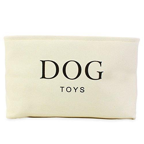 Cesto giochi per cane in canapa color crema - Contenitore di alta qualità per il deposito dei giocattoli del cane. Dimensioni: 40 cm (16in) x 30cm (12in) x 25cms(10in)