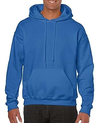 Gildan Hooded Sweatshirt Heavy Blend Plain Hoodie Pullover Hoody Royal S