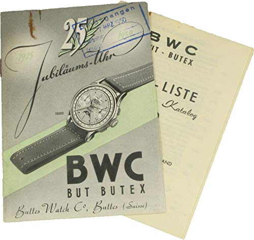 25 Jahre Jubiläums-Uhr BWC BUT BUTEX inkl. Jubiläums-Preisliste