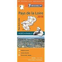 Carte Pays de la Loire Michelin 2018