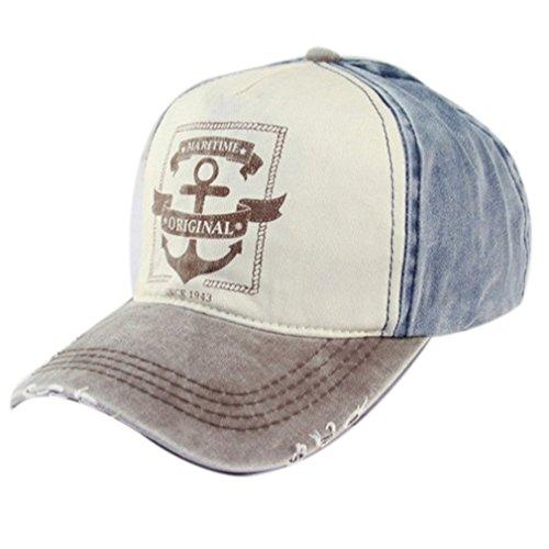Belsen Damen Vintage Maritime Baseball Cap Snapback Trucker Hat (braun)