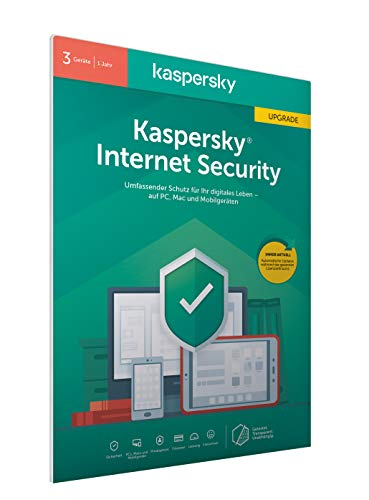 Kaspersky Internet Security 2020 Upgrade | 3 Geräte | 1 Jahr | Windows/Mac/Android | Aktivierungscode in frustfreier Verpackung