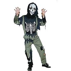 Bristol Novelty Disfraz de esqueleto zombie (XL) para niños edad 9–11Años