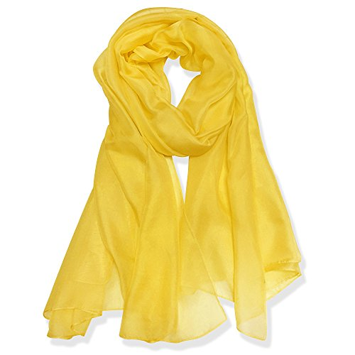YFZYT Pañuelo de seda Mujer Mantón Bufanda Moda Chals Señoras Elegante Color de Degradado Estolas Fular para Fiesta, Playa, Uso Diario