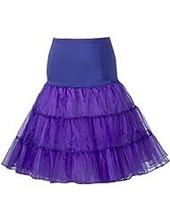 Queenshiny® Retro Underskirt/50s Swing Vintage Petticoat/Rockabilly Tutu/Fancy Neto Falda