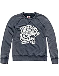 Franklin & Marshall Sweatshirt FLWF551ANS17 For Woman, With Print, Ribbed Wrists