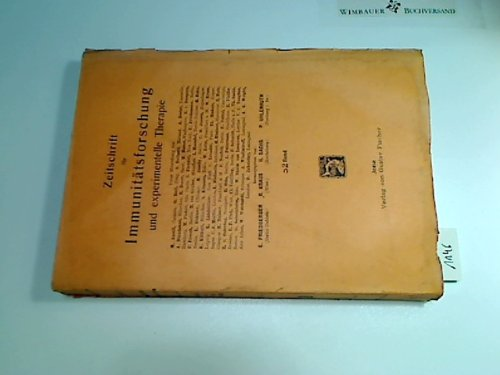 1927, Zeitschrift für Immunitätsforschung u. experimentelle Therapie. 52. Band (1927-zeitschrift)